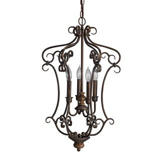 Transitional 4-light Legacy Bronze Pendant
