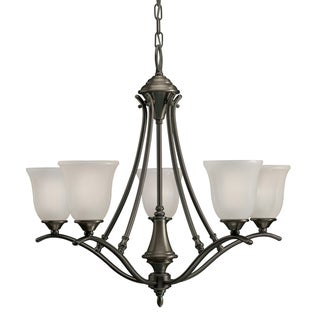 Casual 5-light Olde Bronze Chandelier