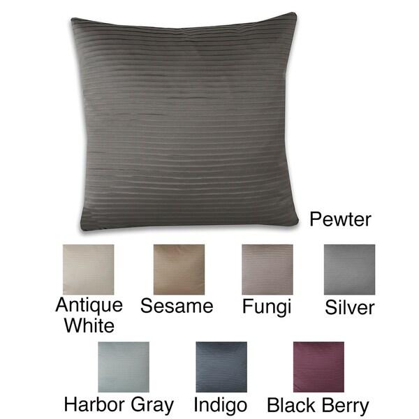 Anastasia Satin Pleat 19 x 19-inch Throw Pillow