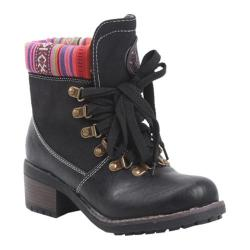 Women's Reneeze Annie-01 Black Ankle Boots