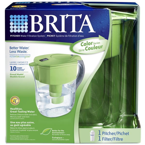 Brita Grand Green 80-ounce Water Filtration Pitcher