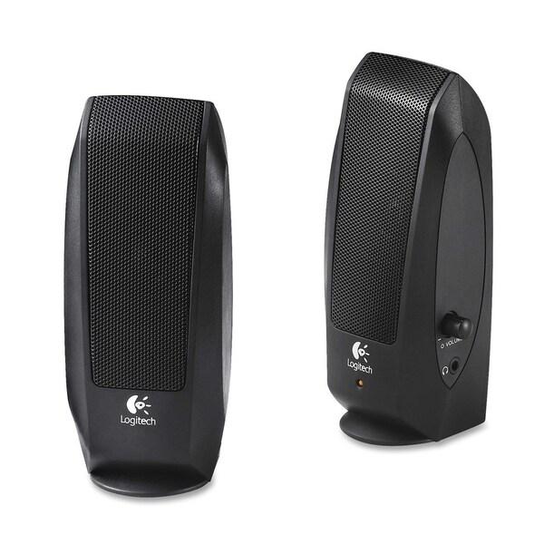 Logitech S-120 2.0 Speaker System - 2.3 W RMS - Black