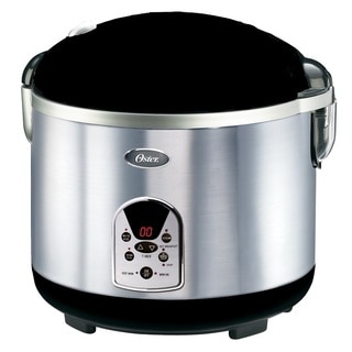 Oster 3071 Brush Stainless Steel 20-Cup Smart Digital Rice Cooker