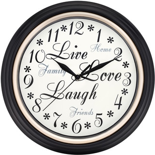 Westclox 12-inch Live Love Laugh Wall Clock