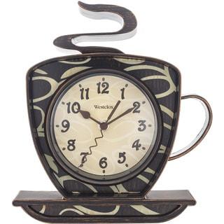 "Westclox 9.5"" Black Decorative Wall Clock"