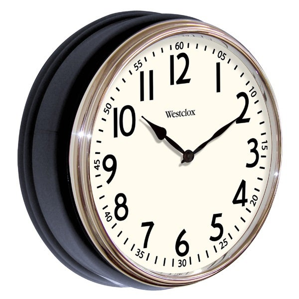 Westclox Vintage Walnut Wall Clock