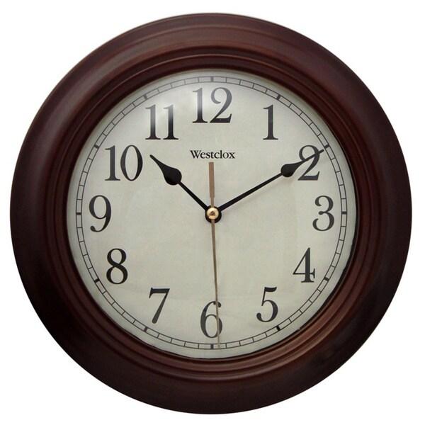 Brown Wood 9.5-inch Wall Clock