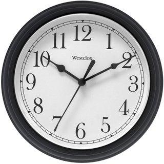 Westclox 9.5-inch Black Decorative Wall Clock