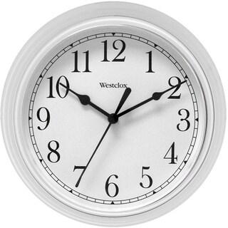 Westclox 9.5-inch White Decorative Wall Clock