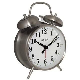 Westclox Metal Twin Bell Silver Alarm Clock