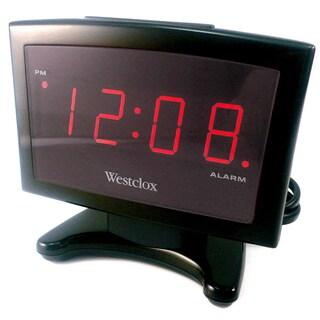 Westclox Thin Display LED Alarm Clock