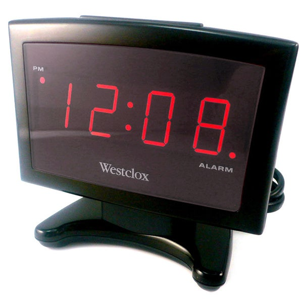Westclox Thin Display LED Alarm Clock