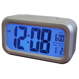 Westclox Smart LCD Blacklight Alarm Clock