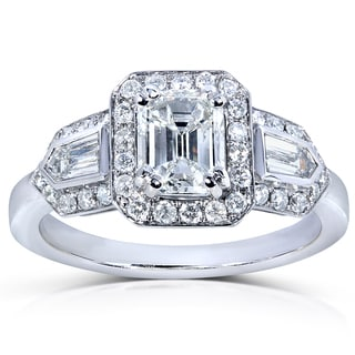 14k White Gold 1 7/8ct TDW Certified Diamond Engagement Ring (H-I, SI2)