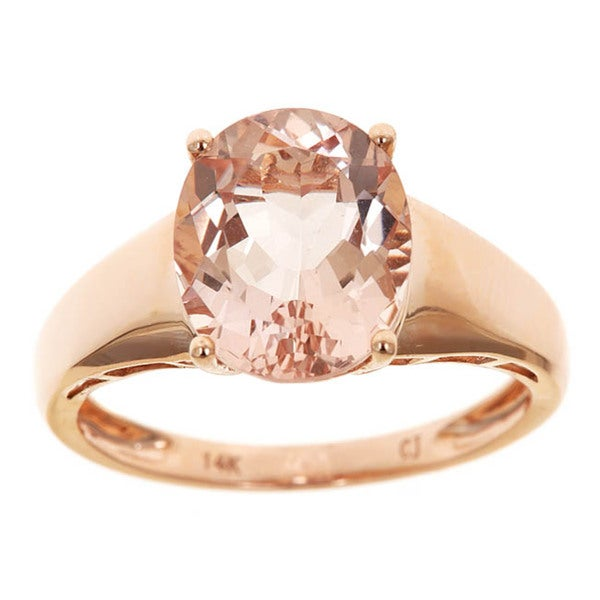 D'yach 14k Rose Gold Morganite Ring