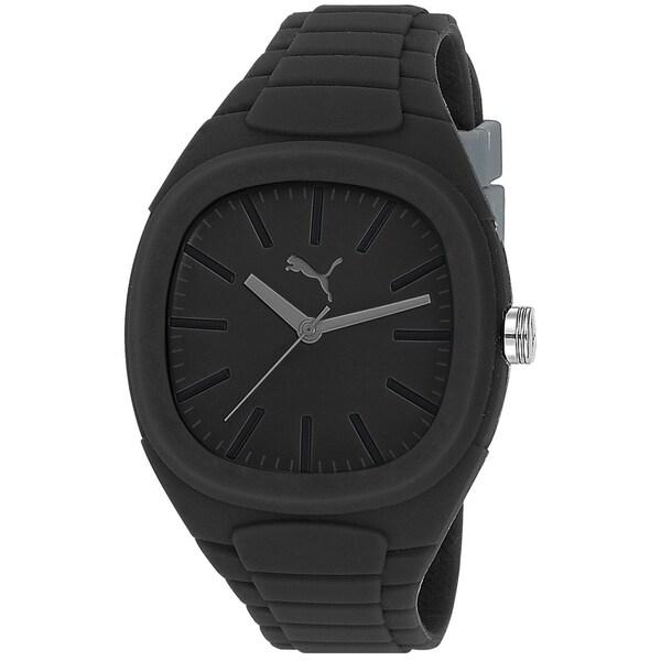 Puma Men's Bubble Gum Black Silicone Watch