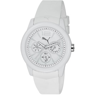 Puma Men's White Silicone/ Steel Analog Watch