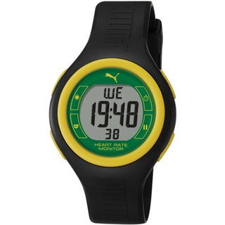 Puma Men's Sport Black Plastic Digital Quartz Watch