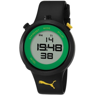Puma Men's Black/ Green Digital Quartz Watch