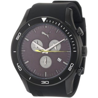 Puma Men's 'Ride' Black Sports Chrono Watch