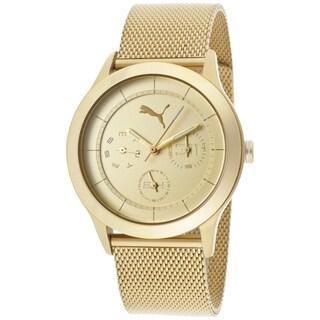 Puma Women's Goldtone Stainless Steel 'Motor' Watch