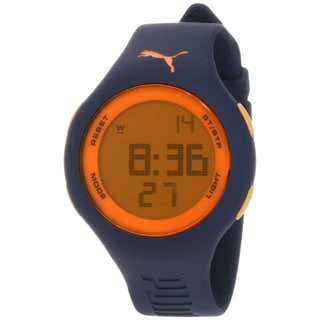 Puma Men's PU910801016 Blue Plastic Orange Dial Quartz Watch