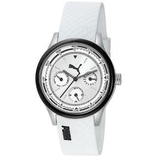 Puma Women's Motor White Polyurethane Quartz Watch