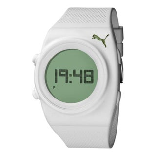 Puma Men's Active PU910851004 White Polyurethane Digital Dial Quartz Watch