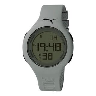 Puma Men's Active PU910801013 Grey Polyurethane Digital Dial Quartz Watch