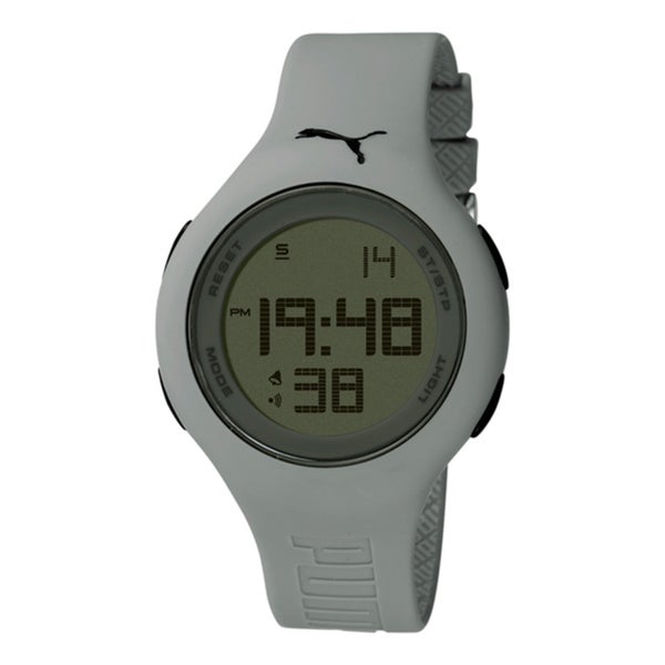 Puma Men's Active PU910801013 Grey Polyurethane Digital Dial Quartz Watch
