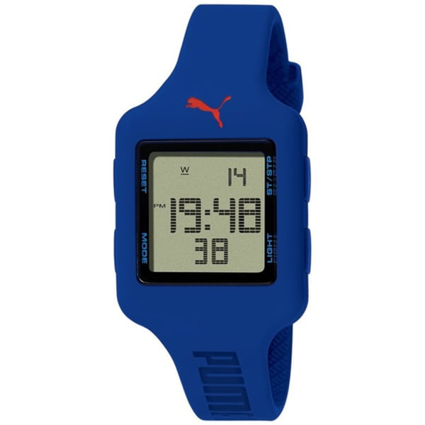 Puma Women's PU910792005 Blue Polyurethane Digital Dial Quartz Watch