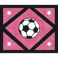 Sweet JoJo Designs Girl's Soccer Accent Floor Rug