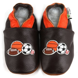 Four Sports Soft Sole Leather Baby Shoes