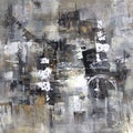 Art in Style 'Abstract in Grays' Hand-Painted Wall Art