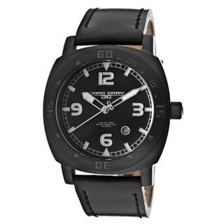 Jorg Gray Men's Black Genuine Leather Watch