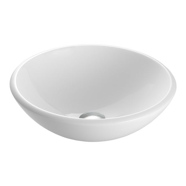 White Stone Sink : VIGO White Phoenix Stone Glass Vessel Bathroom Sink - 15092834 ...