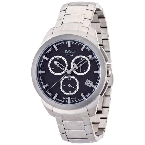 Tissot Men's Quartz Titanium Black Dial Chronograph Watch