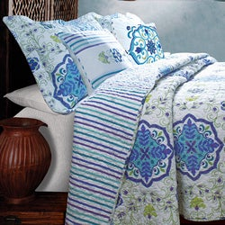 Esprit Blue Bonus 5-piece Quilt Set