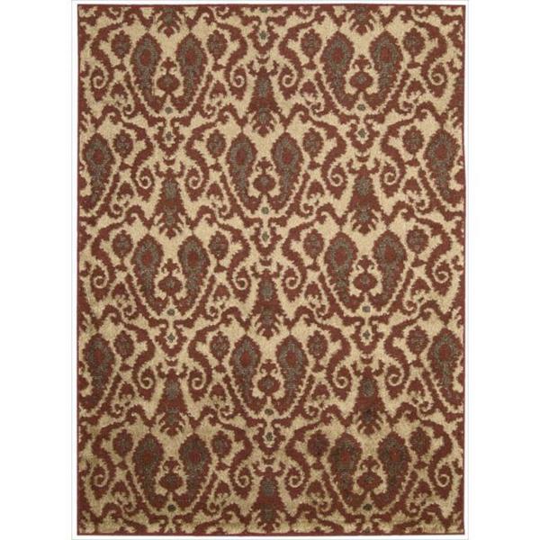 Kindred Damask Ivory/Red Rug (5' x 7') 10589923