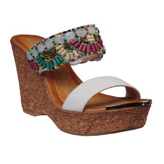 Refresh by Beston Women's 'Maysa-01' Wedge Sandals