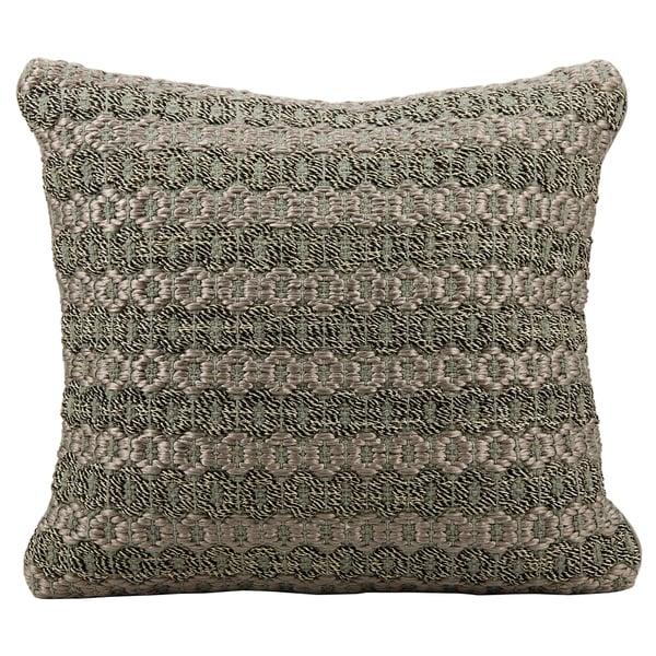 Mina Victory Woven Luster Malai Dori Grey Throw Pillow (20-inch x 20-inch) by Nourison
