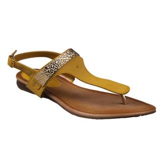 Refresh by Beston Women's 'Kiki-10' Gladiator Thong Sandals
