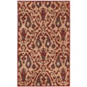 Kindred Damask Ivory/Red Area Rug (2'3 x 3'9)