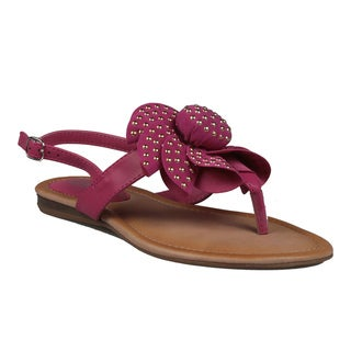 Refresh by Beston Women's Fuschia 'Kiki-02' Gladiator Sandals