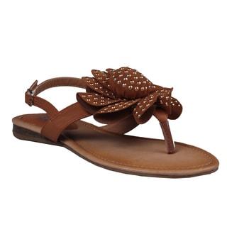 Refresh by Beston Women's Camel 'Kiki-02' Gladiator Sandals