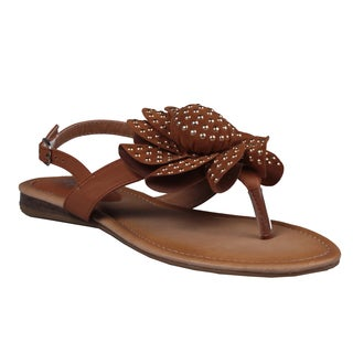 Refresh by Beston Women's Camel 'Kiki-02' Gladiator Sandals