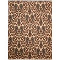 Kindred Damask Ivory/Brown Area Rug (7'9 x 10')