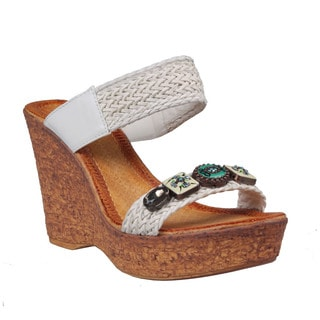 Refresh by Beston Women's 'Maysa-07' Wedge Sandals