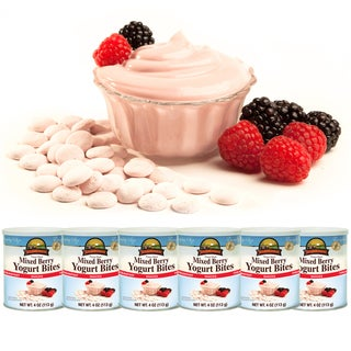 Augason Farms Freeze Dried Mixed Berry Yogurt Bites (Pack of 6)