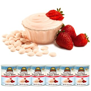Augason Farms Freeze Dried Strawberry Yogurt Bites (Pack of 6)